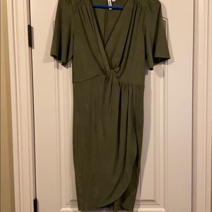 Olive wrap dress- worn once